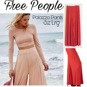Free People red palazzo pants. Sz Lrg. NWT!